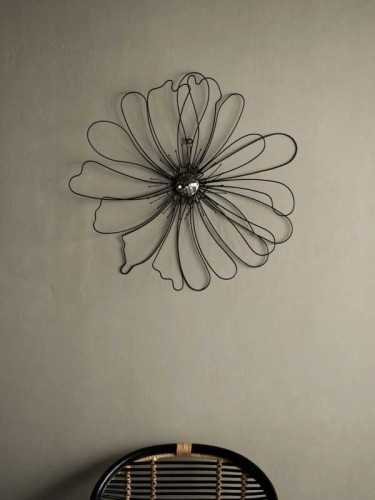 Sumire Floral Wall Decor Black Black Solid DécorHome DecorationsWall Decor Items