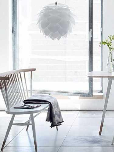 Foto produk  Silvia White Mini Pendant Hanging Lamp White & Black Cord di Arsitag