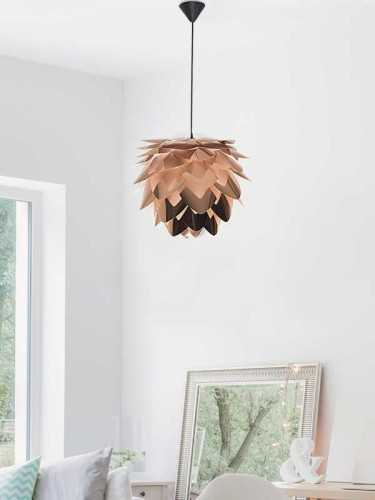 Foto produk  Silvia Copper Large Pendant Hanging Lamp Copper And Black Cord di Arsitag