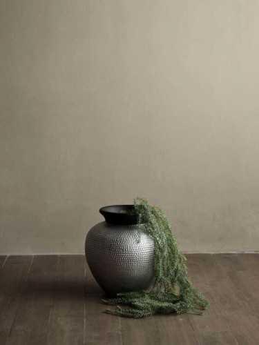 Foto produk  Genoa Vase Silver Medium Silver Black di Arsitag