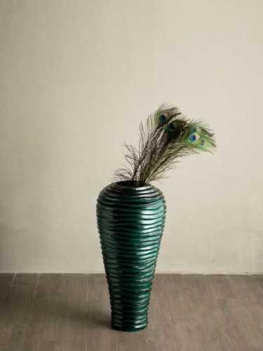 Foto produk  Como Ribbed Vase Jade Tall Jade Black di Arsitag