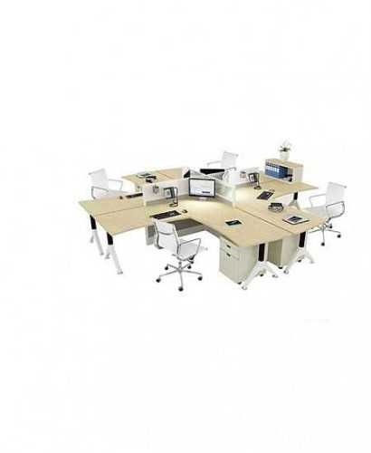 Partisi Kantor-Donati Ws4 4 Staff L OfficeOffice Partitions
