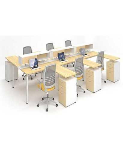 Meja Kantor-Highpoint Metric 06 L OfficeOffice Desks