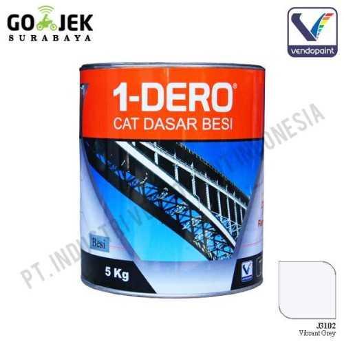 1Dero Primer Besi Warna Vibrant Grey Netto 5 Kg ConstructionPaints And VarnishesMetal Treatments
