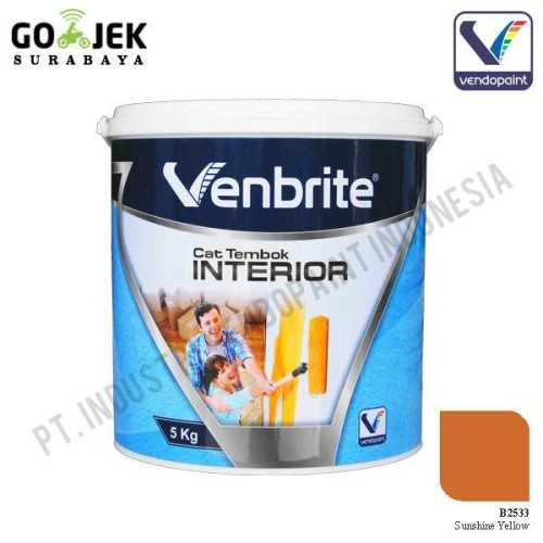 Venbrite Interior Warna Sunshine Yellow 5 Kg ConstructionPaints And VarnishesDecorative Painting Finishes