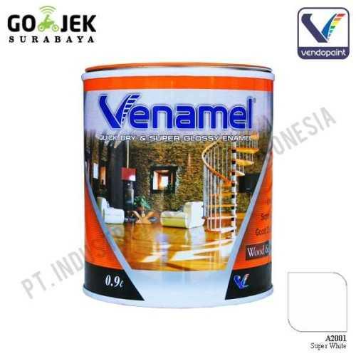Venamel Kelas Medium Warna Super White Netto 0.9 L ConstructionPaints And VarnishesWood Treatments