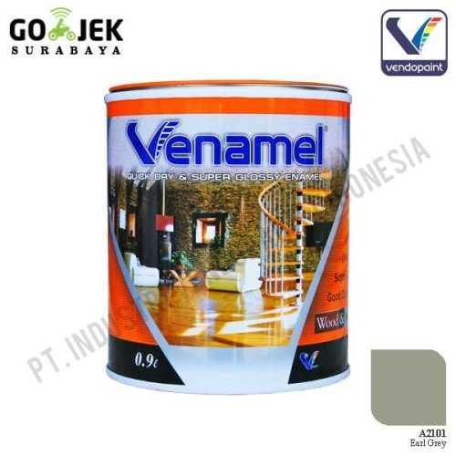 Venamel Kelas Medium Warna Earl Grey Netto 0,9 L ConstructionPaints And VarnishesWood Treatments