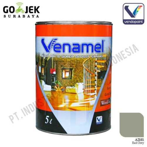 Venamel Kelas Medium Warna Earl Grey Netto 5 L ConstructionPaints And VarnishesWood Treatments