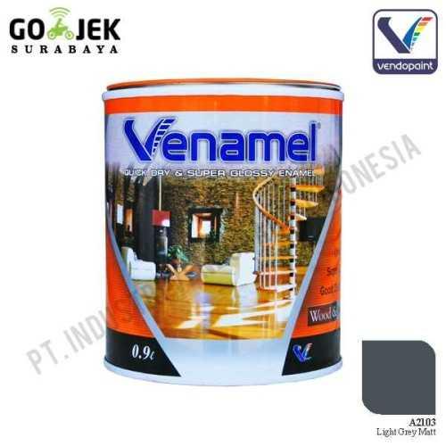 Venamel Kelas Medium Warna Light Grey Matt Netto 0,9 L ConstructionPaints And VarnishesWood Treatments