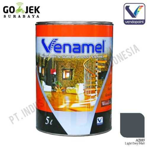 Venamel Kelas Medium Warna Light Grey Matt Netto 5 L ConstructionPaints And VarnishesWood Treatments