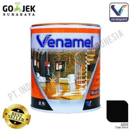 Venamel Kelas Medium Warna Super Black Netto 0.9 L ConstructionPaints And VarnishesWood Treatments