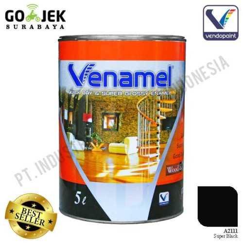 Venamel Kelas Medium Warna Super Black Netto 5 L ConstructionPaints And VarnishesWood Treatments