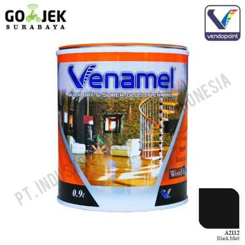 Foto produk  Venamel Kelas Medium Warna Black Matt Netto 0.9 L di Arsitag
