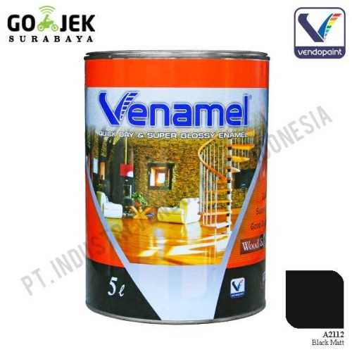 Foto produk  Venamel Kelas Medium Warna Black Matt Netto 5 L di Arsitag