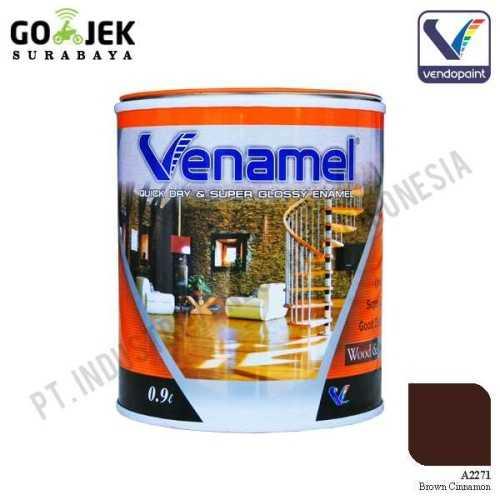 Venamel Kelas Medium Warna Brown Cinnamon Netto 0,9 L ConstructionPaints And VarnishesWood Treatments