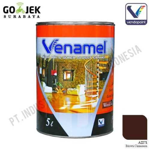 Venamel Kelas Medium Warna Brown Cinnamon Netto 5 L ConstructionPaints And VarnishesWood Treatments