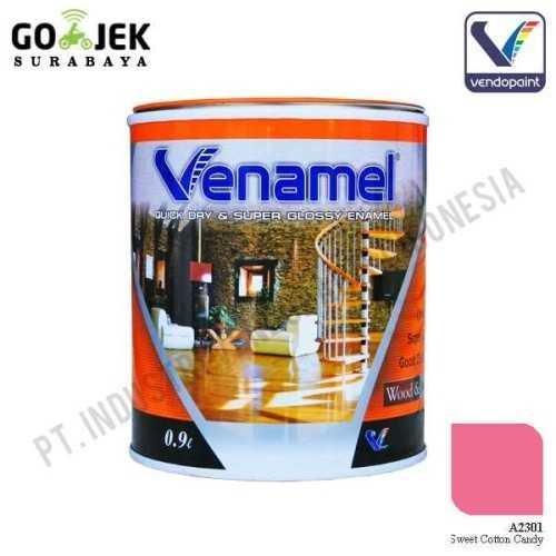 Venamel Kelas Medium Warna Sweet Cotton Candy Netto 0.9 L ConstructionPaints And VarnishesWood Treatments