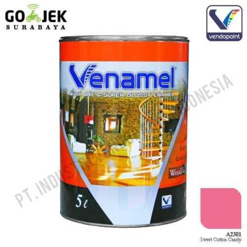 Venamel Kelas Medium Warna Sweet Cotton Candy Netto 5 L ConstructionPaints And VarnishesWood Treatments