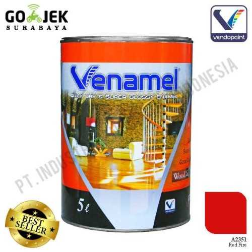 Venamel Kelas Medium Warna Red Fire Netto 5 L ConstructionPaints And VarnishesWood Treatments