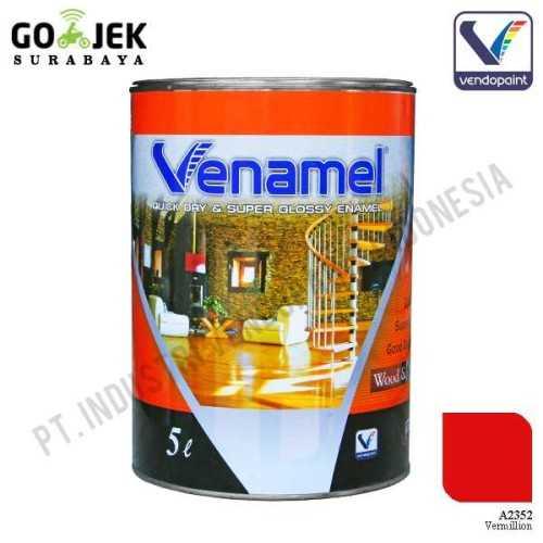 Venamel Kelas Medium Warna Vermillion Netto 5 L ConstructionPaints And VarnishesWood Treatments
