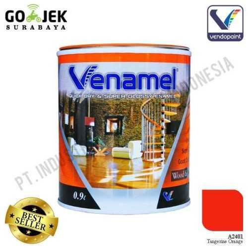 Venamel Kelas Medium Warna Tangerine Orange Netto 0,9 L ConstructionPaints And VarnishesWood Treatments