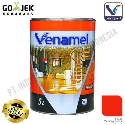 Venamel Kelas Medium Warna Tangerine Orange Netto 5 L ConstructionPaints And VarnishesWood Treatments