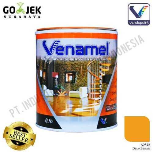 Venamel Kelas Medium Warna Disco Banana Netto 0,9 L ConstructionPaints And VarnishesWood Treatments
