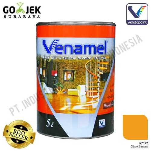 Venamel Kelas Medium Warna Disco Banana Netto 5 L ConstructionPaints And VarnishesWood Treatments