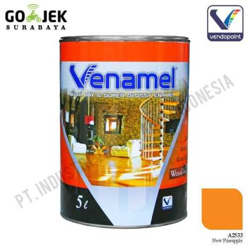 Venamel Kelas Medium Warna New Pineaple Netto 5 L ConstructionPaints And VarnishesWood Treatments