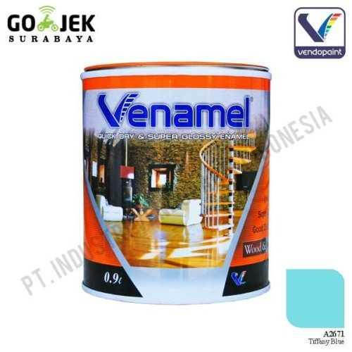 Venamel Kelas Medium Warna Tiffany Blue Netto 0,9 L ConstructionPaints And VarnishesWood Treatments