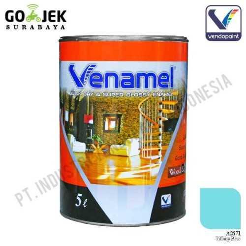 Venamel Kelas Medium Warna Tiffany Blue Netto 5 L ConstructionPaints And VarnishesWood Treatments