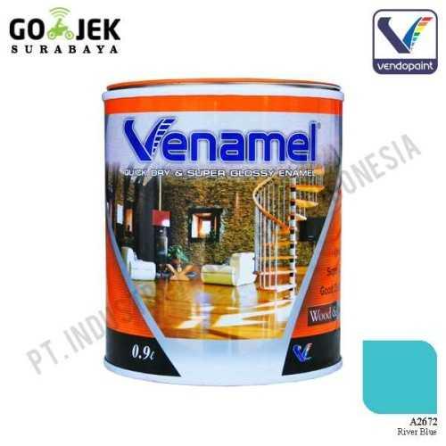 Venamel Kelas Medium Warna River Blue Netto 0,9 L ConstructionPaints And VarnishesWood Treatments