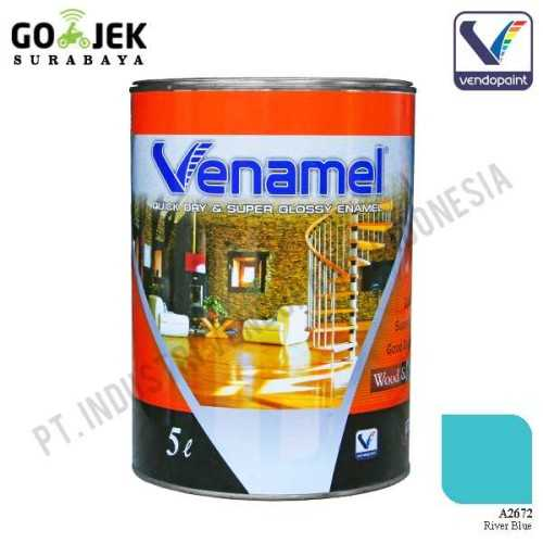 Venamel Kelas Medium Warna River Blue Netto 5 L ConstructionPaints And VarnishesWood Treatments