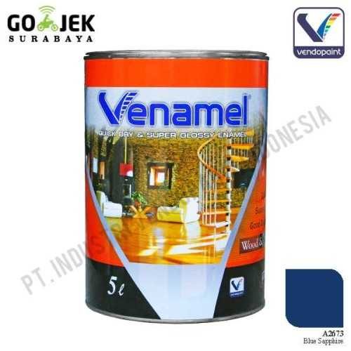 Venamel Kelas Medium Warna Blue Saphire Netto 5 L ConstructionPaints And VarnishesWood Treatments
