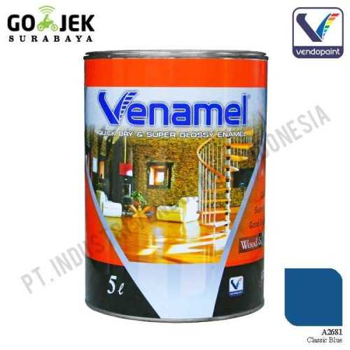 Venamel Kelas Medium Warna Classic Blue Netto 5 L ConstructionPaints And VarnishesWood Treatments