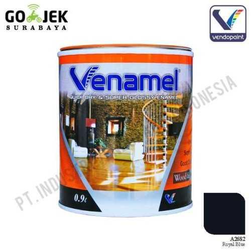 Venamel Kelas Medium Warna Royal Blue Netto 0,9 L ConstructionPaints And VarnishesWood Treatments