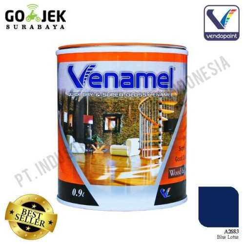 Venamel Kelas Medium Warna Blue Lotus Netto 0.9 L ConstructionPaints And VarnishesWood Treatments