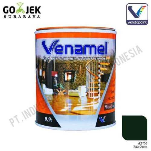 Venamel Kelas Medium Warna Pine Green Netto 0.9 L ConstructionPaints And VarnishesWood Treatments