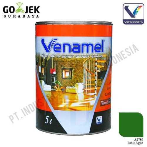 Venamel Kelas Medium Warna Green Apple Netto 5 L ConstructionPaints And VarnishesWood Treatments