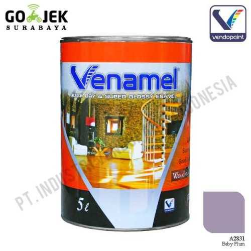 Venamel Kelas Medium Warna Baby Plum Netto 5 L ConstructionPaints And VarnishesWood Treatments