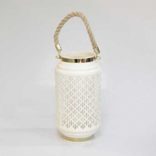Foto produk  Lantern Candle Holder Oval White di Arsitag