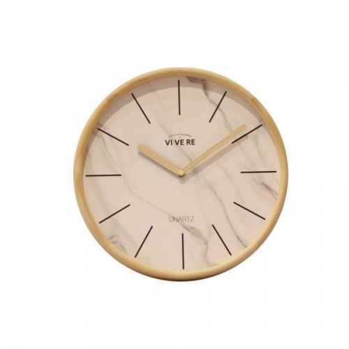 Foto produk  Wall Clock Natural White Brown di Arsitag