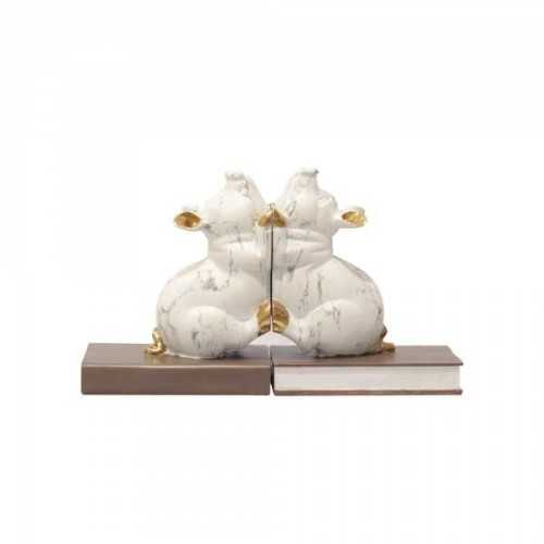 Foto produk  Book End Poly Pig White Brown di Arsitag