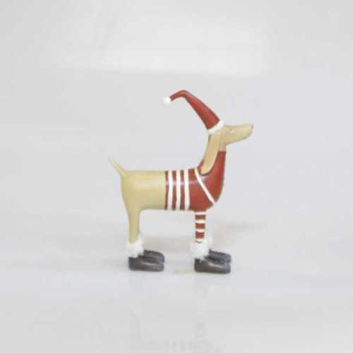 Object Deco Dog Brown Red DécorHome DecorationsDecorative Objects