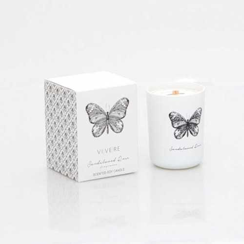Votive Candle Butterfly White DécorHome DecorationsCandles
