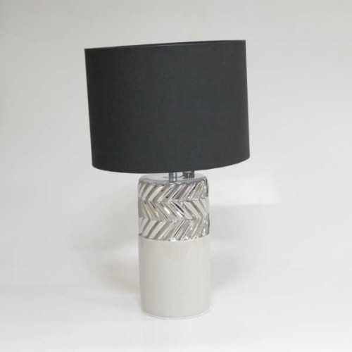 Table Lamp Chevron Gray Black LightingInterior LightingTable Lamps
