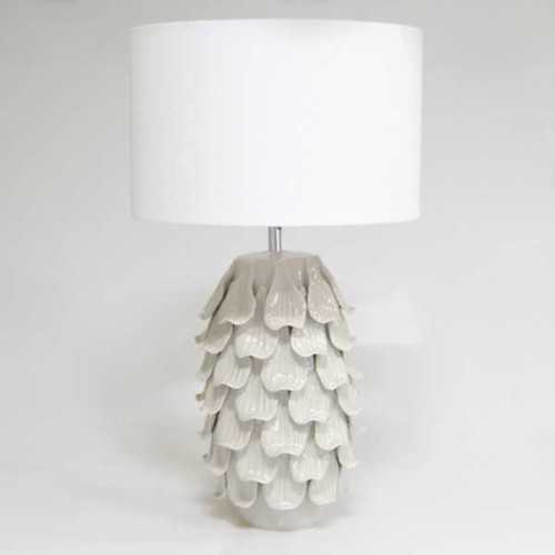 Foto produk  Table Lamp Leaf Small Gray White di Arsitag