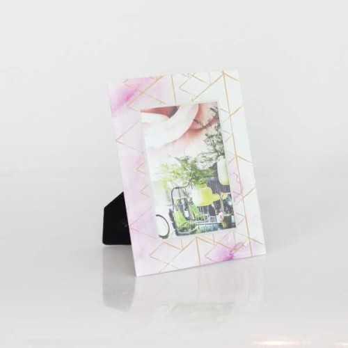 Photo Frame Std Geometric Pink 5X7Inch DécorHome DecorationsFrames