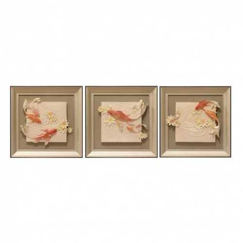 Foto produk    Wall Deco Koi Fish Cream Gold   di Arsitag