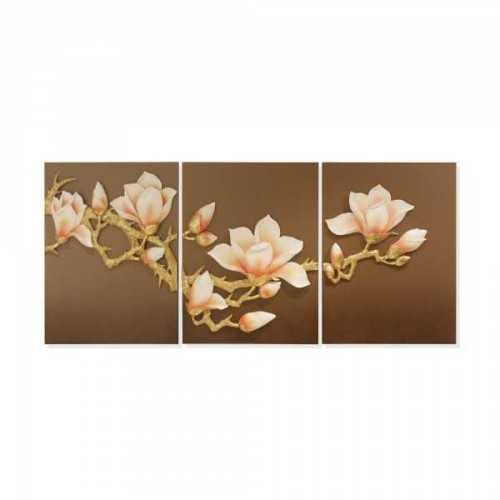 Wall Deco Flowering Twig Orange Brown DécorHome DecorationsWall Decor Items